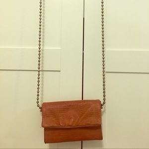Free People leather clutch/bag